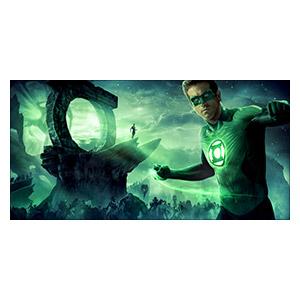 Green Lantern. Размер: 80 х 40 см